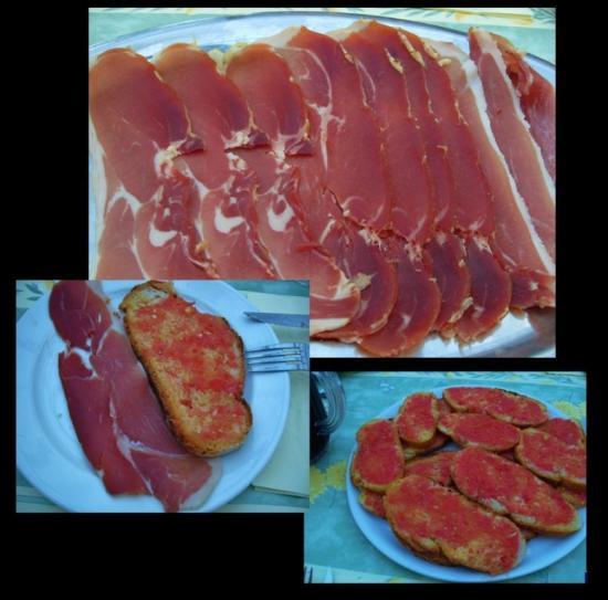 Pain tomate et jambon serrano